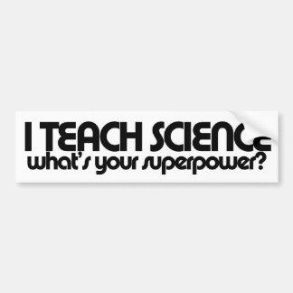 Humor del profesor de ciencias pegatina de parachoque