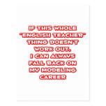 Humor del profesor de inglés… que modela carrera tarjetas postales