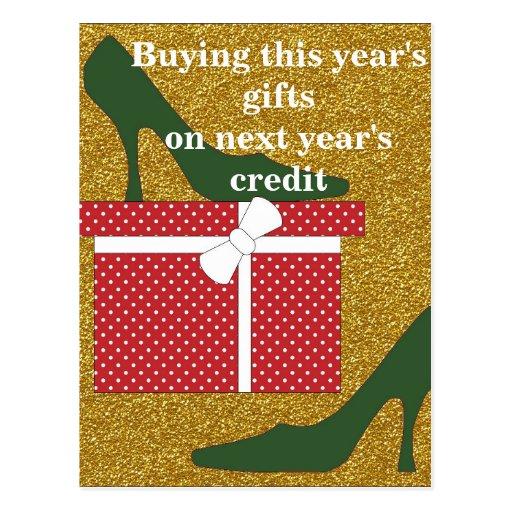 Humor del regalo del navidad tarjetas postales