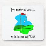 Humor del retiro para los golfistas alfombrilla de ratones