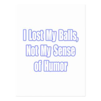 Humor del superviviente del cáncer testicular tarjeta postal