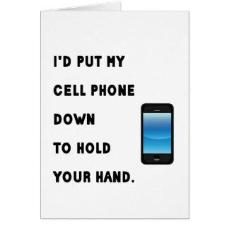 Humor del teléfono celular tarjeta de felicitación
