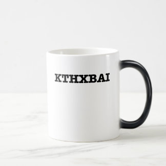 Humor del texto de KTHXBAI Taza De Café