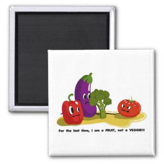 Humor del tomate imán cuadrado