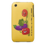 Humor del tomate iPhone 3 Case-Mate carcasas