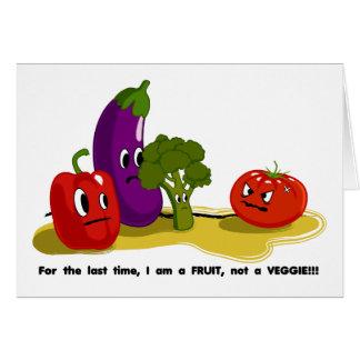 Humor del tomate tarjeta de felicitación