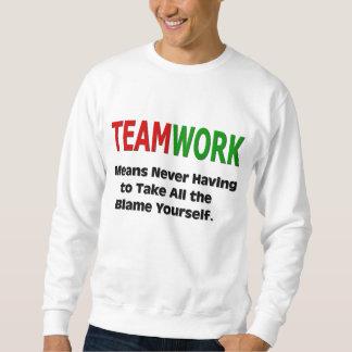 Humor del trabajo en equipo sudadera con capucha