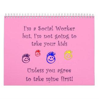 Humor del trabajo social calendario