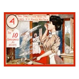 Humor del vintage, 10 mandamientos para las postal