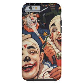 Humor del vintage, payasos de circo de risa y funda resistente iPhone 6