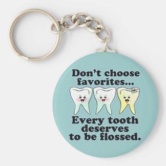 Humor dental divertido llavero redondo tipo pin