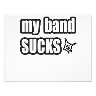 Humor divertido de la banda de la música de punk r invitación