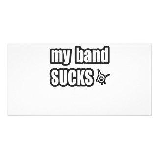 Humor divertido de la banda de la música de punk r tarjeta personal