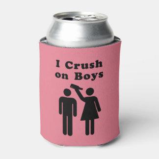 Humor divertido de la botella del agolpamiento del enfriador de latas
