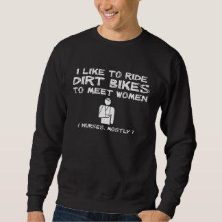 Humor divertido de la camisa del motocrós de la