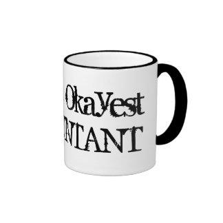 Humor divertido de la taza de café del contable el