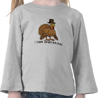 Humor divertido de Turquía de los vegetarianos del Camisetas