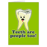 Humor divertido del dentista tarjetón