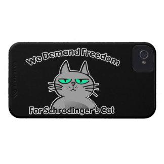 Humor divertido del friki del gato de Schrodinger Case-Mate iPhone 4 Carcasa