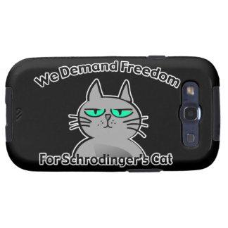 Humor divertido del friki del gato de Schrodinger Galaxy SIII Cobertura