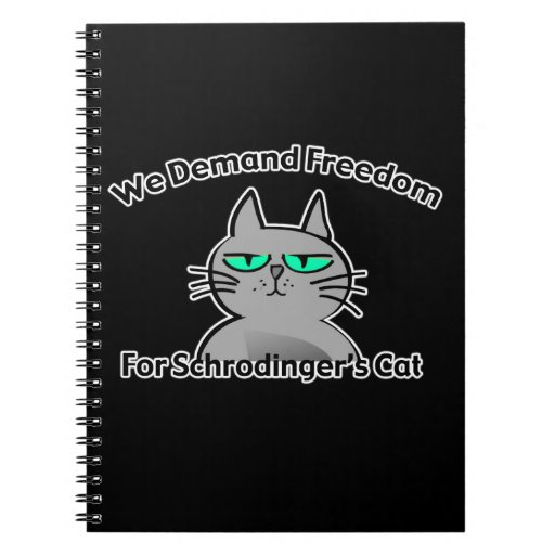 Humor divertido del friki del gato de Schrodinger Cuaderno