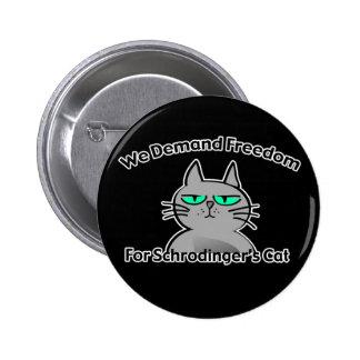 Humor divertido del friki del gato de Schrodinger Pins