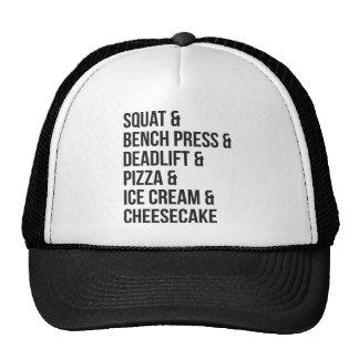 Humor divertido del gimnasio - pizza, helado, gorros bordados