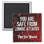 Humor divertido del insulto del ataque de los zomb imanes de nevera