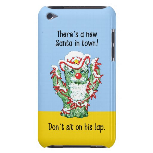 Humor divertido del navidad del cactus de Papá Noe iPod Case-Mate Carcasas