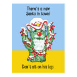 Humor divertido del navidad del cactus de Papá Postal