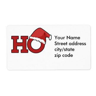Humor divertido del navidad etiquetas de envío