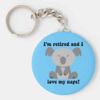 Humor divertido del retiro llaveros personalizados