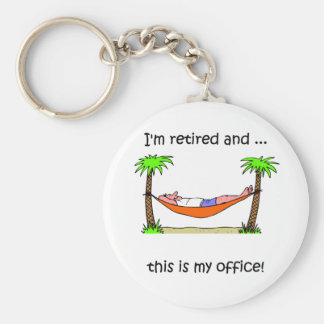 Humor divertido del retiro llavero redondo tipo pin