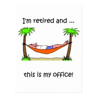 Humor divertido del retiro postal