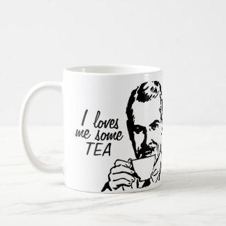 Humor divertido del té taza de café