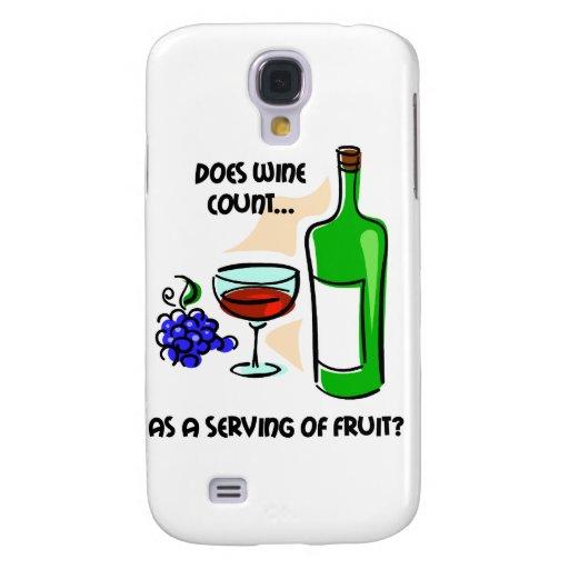 humor divertido del vino funda para galaxy s4
