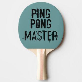 Humor divertido principal del texto del ping-pong pala de tenis de mesa