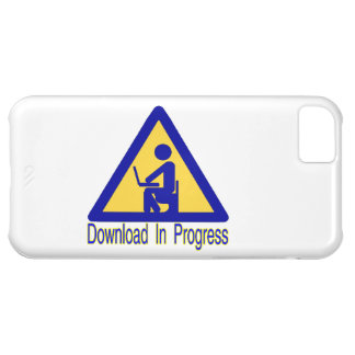 Humor en curso del retrete de la transferencia carcasa para iPhone 5C