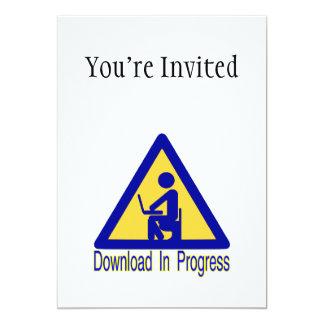 Humor en curso del retrete de la transferencia invitación 12,7 x 17,8 cm
