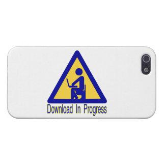 Humor en curso del retrete de la transferencia iPhone 5 carcasas