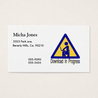 Humor en curso del retrete de la transferencia tarjetas de visita