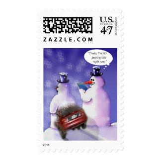 Humor estacional, social de los medios sellos postales