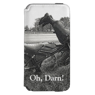 """HUMOR/FAKE LEGS STICKING UP FROM BALE OF STRAW iPhone 6/6S WALLET CASE"