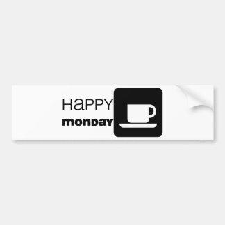 ¡Humor feliz de lunes! Pegatina Para Auto