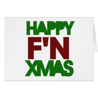 Humor feliz de Navidad Tarjeta Pequeña