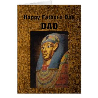 Humor feliz del día de padre del papá del Pharaoh Tarjeta De Felicitación