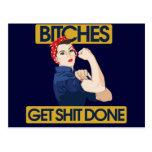 Humor feminista divertido postal