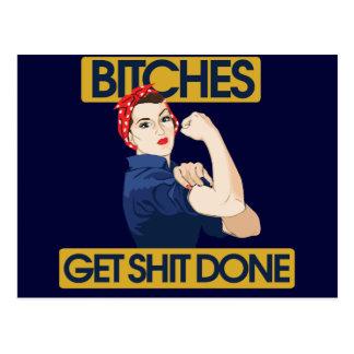Humor feminista divertido tarjeta postal
