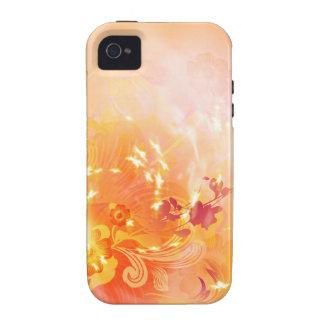 Humor, follaje y flores del otoño Case-Mate iPhone 4 carcasa
