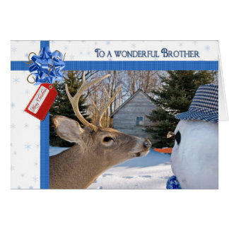 Humor for Brother's Christmas Greeting Card
